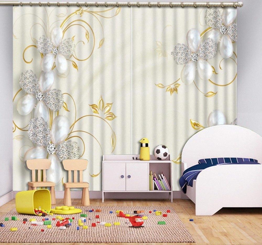 Personalizar 3d Cortinas de flores joyas del apagón cortinas de estar Sala de estar Dormitorio Ventana 3D FPUc #