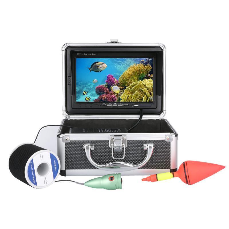 """Fischfinder Gamwater 15/20 / 30m 1000tvl Unterwasser-Eisfischen-Kamera 7 """"LCD-Monitor 6pcs weiße LED für"""