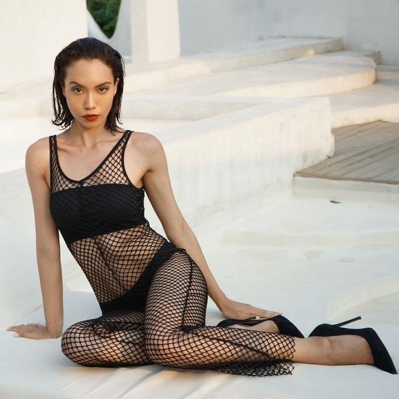 1 stücke heiße frauen sexy fischnetzausschnitt perspektive sexy overall
