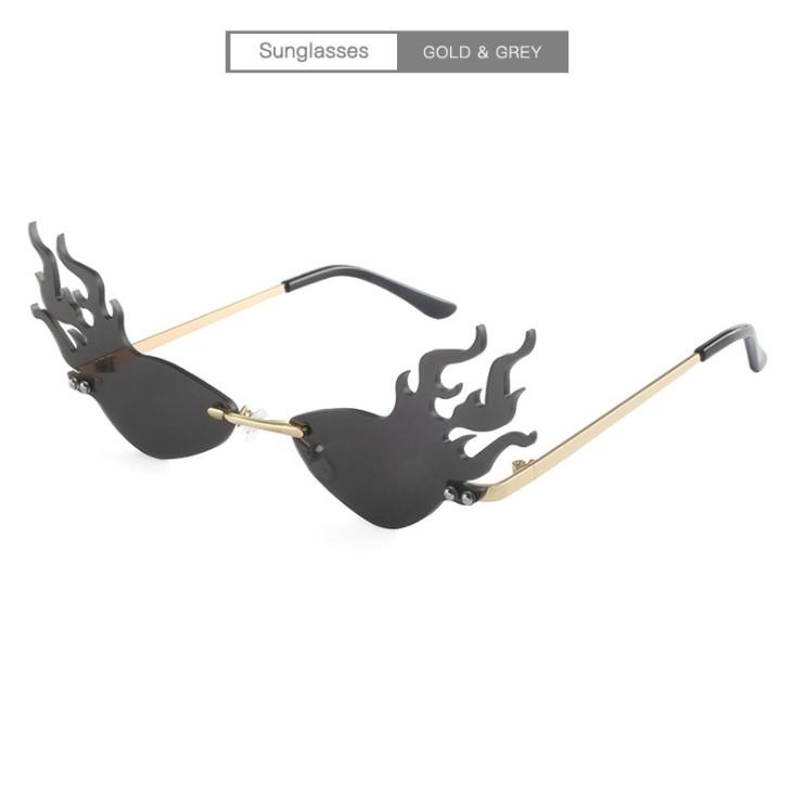 Flame Designer Sunglasses Hot Man Goggle Sunglasses Praia das Mulheres Excelente Óculos UV400 7 Cores Qualidade 20Summer Uxpeq
