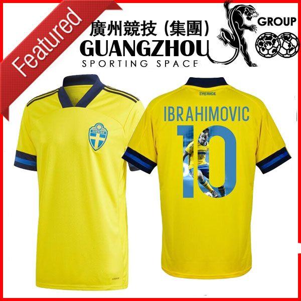 2020 2021 20 21 Spécial Suède IBrahimovic 10 Home Jersey 2020-2021 (Gallery Impression) Home Soccer Jerseys Shirts de football