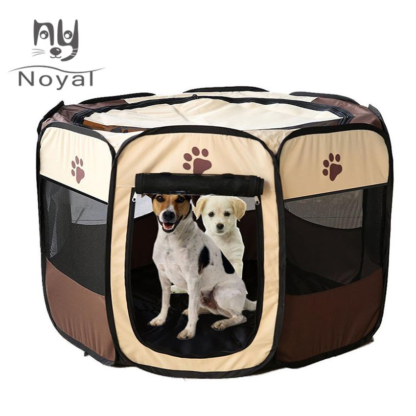Dog House Pet Bed Portable Tent Cage Cat Playpen Puppy Kennel Easy Operation Octagonal Fence Drop Shipping