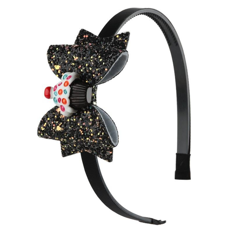 Fashion Double Bow Kids Hairband Haird Accessori per capelli Forniture per feste Sfumature Sequins Bambini Thin Hair Band Vendita calda 3 06WJ J2