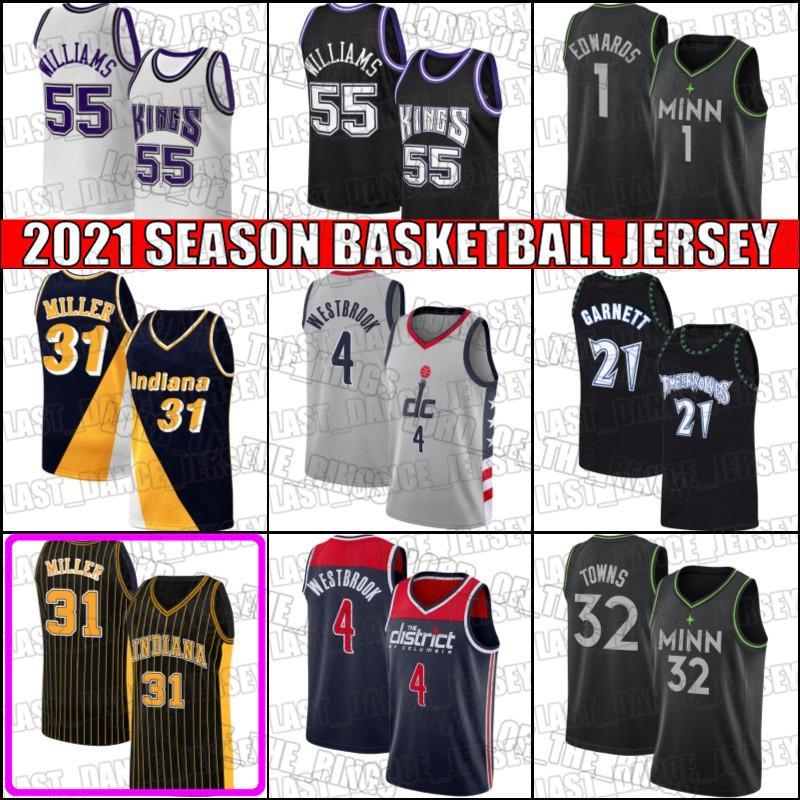 Reggie Kevin Miller Garnett Jersey Anthony Towns Edwards Jerseys Jason Russell Williams Westbrook Jersey Basketball Asd5Safg