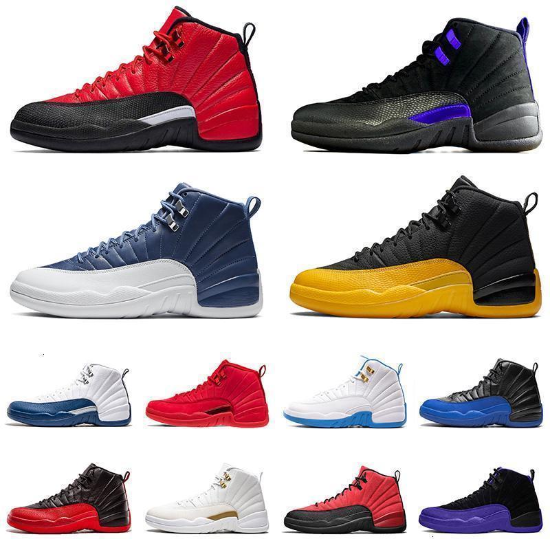 Новое прибытие мужские женские баскетбольные туфли 12 12S Jumpman XII CONCORD CONELY BLUE University Gold Bulls Men High Top Sports кроссовки