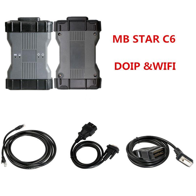 Функция MB Star C6 DoIP диагностический инструмент с Wi-Fi Professional автомобиля диагностический инструмент SD Connect MB Star Мультиплексор v2020.09 мягкой посуды