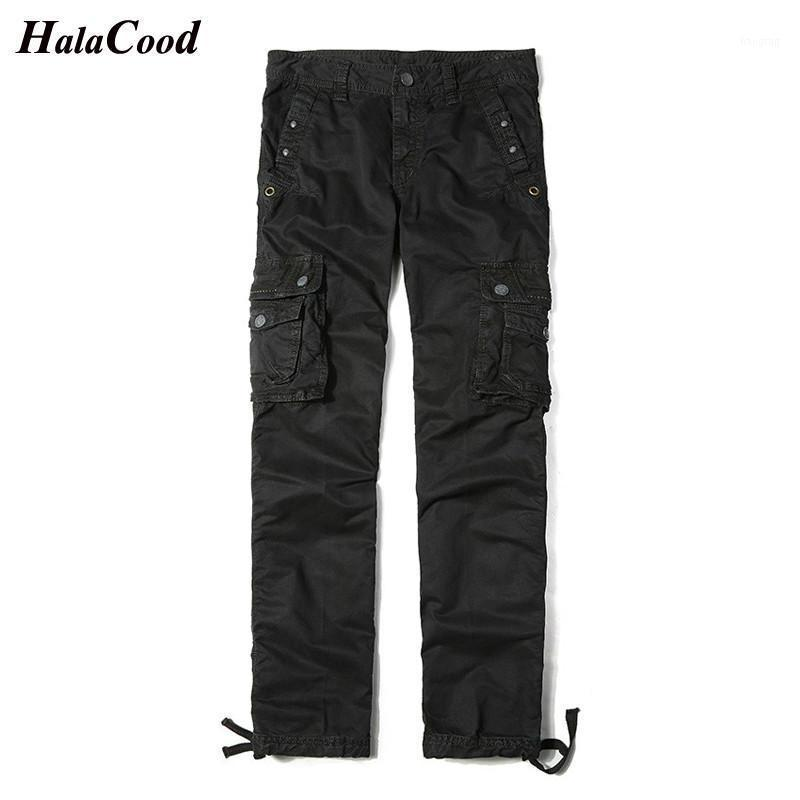 Pantalones para hombres Hombres tácticos Multi-Bolsillo Swat Combat Pantalones del ejército Masculino IX9 Impermeable Resistente al desgaste Joggers Big Tamaño 401