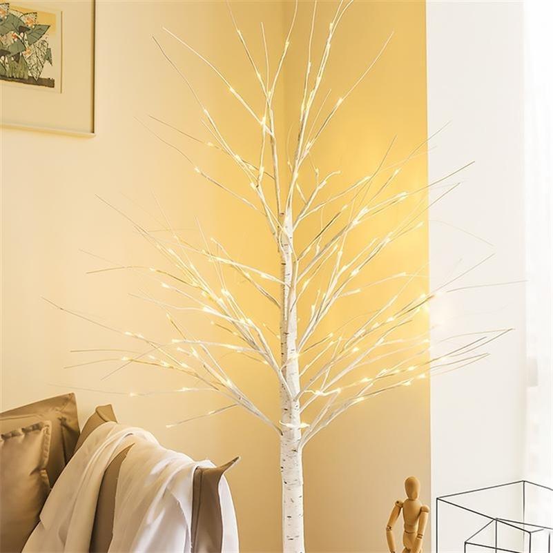 Изысканная рождественская елка светодиодный березовый свет светло-креативные светящиеся лампы Новый год огни Рождественские декоративные лампы Home Decor LJ201128