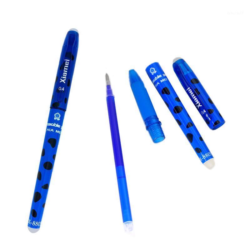 Xiamei 2 PCs löschbare Gel-Stift-Nachfüllungen ist rotblauer Tintenblau und schwarz ein magisches Schreiben neutraler Pen1