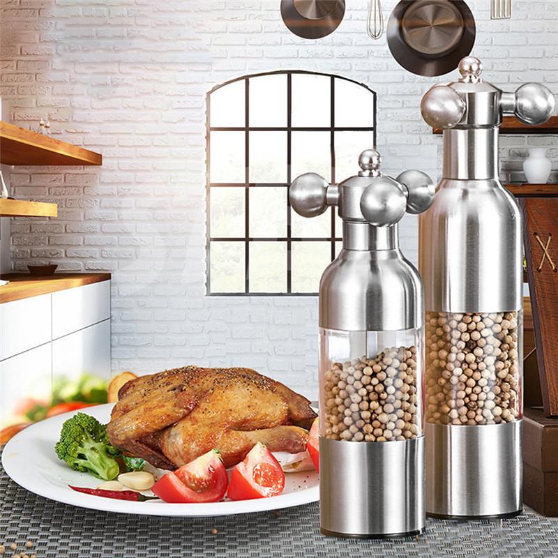 جديد 1 قطع المطبخ الادوات الإبداعية المطبخ صلصة الفلفل مطحنة الفلفل الأسود مطحنة الثوم مطحنة التوابل طاحونة دروبشيبينغ T200323