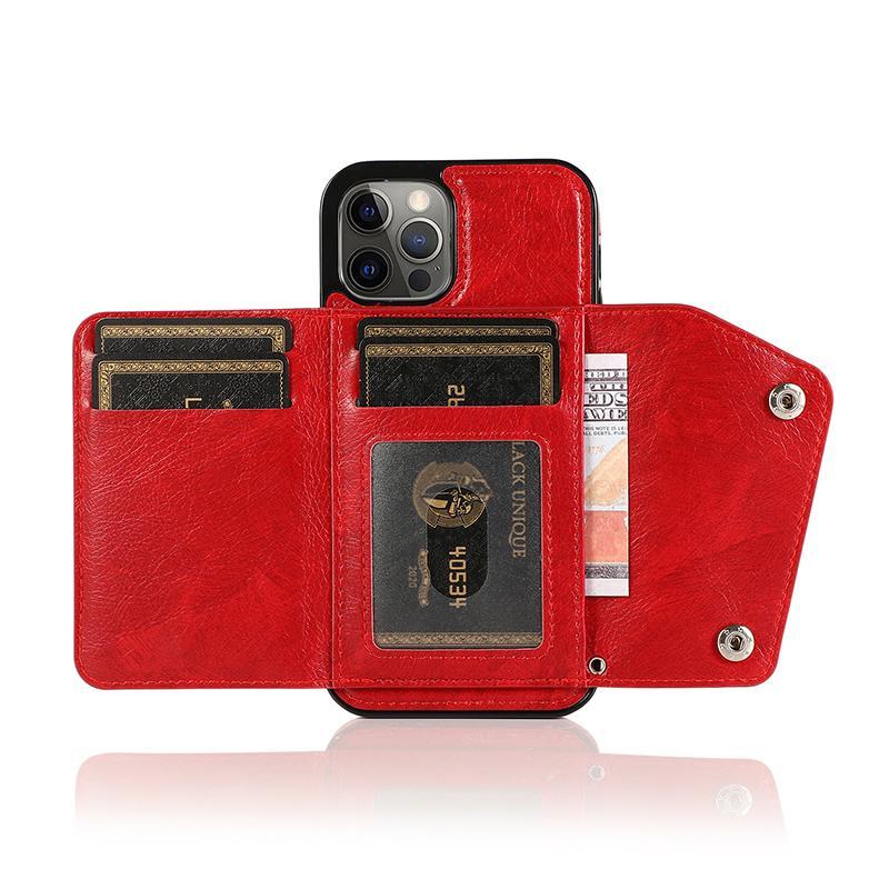 Wallet Card Phone Case für iPhone12 11Pro SE20 7 8PLUS XR Luxus Ledertasche für Samsung Note20 S20plus Galaxy