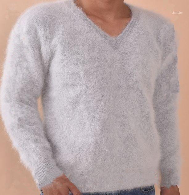 2020 Angola Genuino Puro 100% Mink Cashmere Suéter Men Jerseys Ropa Suéteres Hombres Envío gratis PRECIO al por mayor Z2791