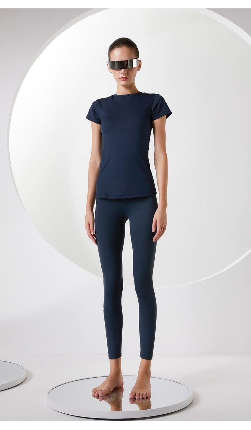 Женская обнаженная йога брюки жесткая бедра, поднятие Capris Fitness упражнения