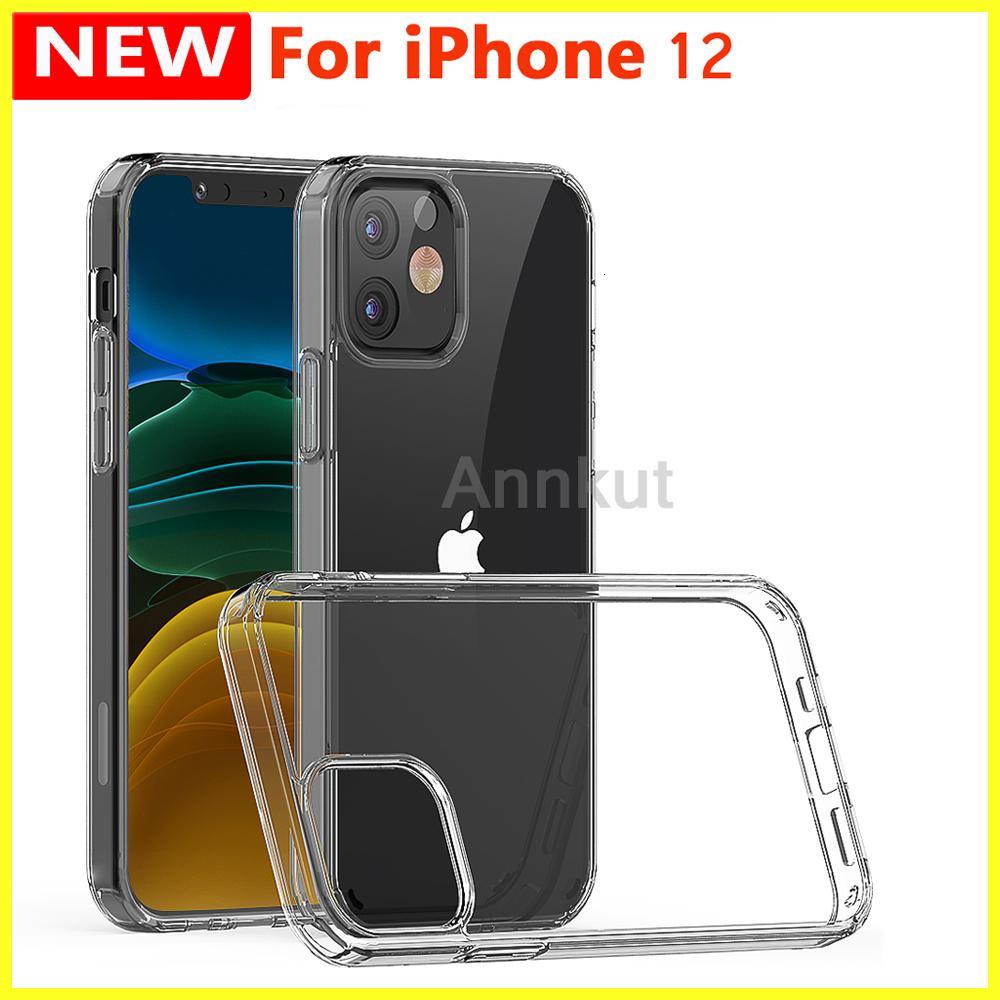 12 TPU Telefon Kılıfı, Telefon için 12 Pro Max Pro 12 Mini 1.5mm Temizle Şeffaf Akrilik + TPU Telefon Kılıfı Darbeye Cep Telefonu