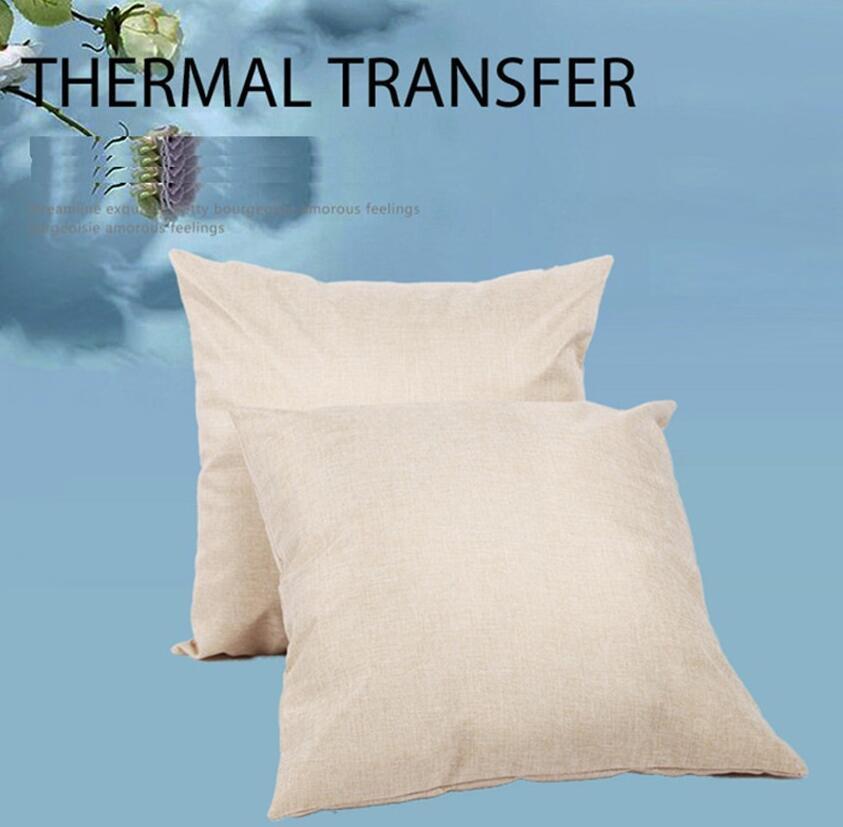 Leerer Leinen Sublimation Kissenbezug Wärmeübertragung Kissen Wurfkissenbezug Leinen für Wärmeabdruck Home Sofa Kissenbezüge F102006