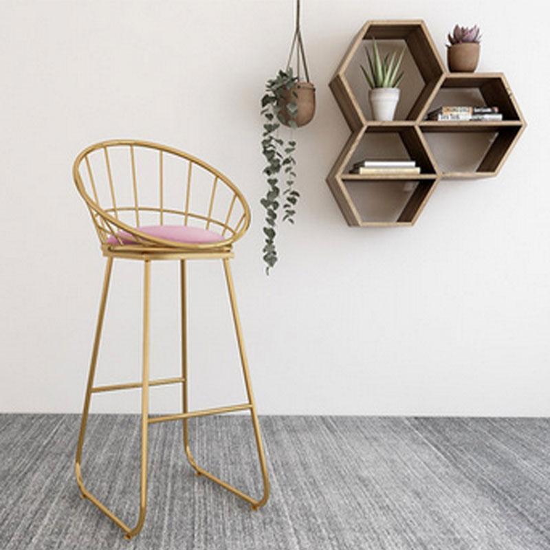 Moderne Möbel Home BARCHAIR Bekleidungsgeschäft Bar Fotografie Licht Luxus Stuhl Rückenlehne Hohe Hocker Home Möbel Wohnzimmer Gepolsterte Hocker