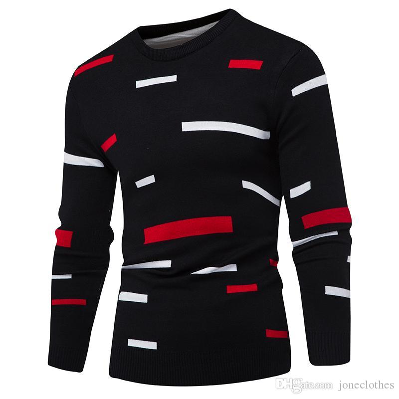 Sweater Pullover Hommes 2017 Male Brand Casual Mulit-Couleur Mode Simple Pulls Hommes Hommes Confortable Couverture Coulée O-Cou Sweater