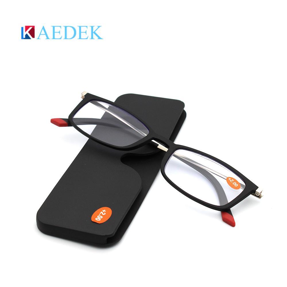 KAEDEK Ultraléger Lecture Hommes Femmes Incassable haute définition résine lunettes de presbyte Lunettes Prescription