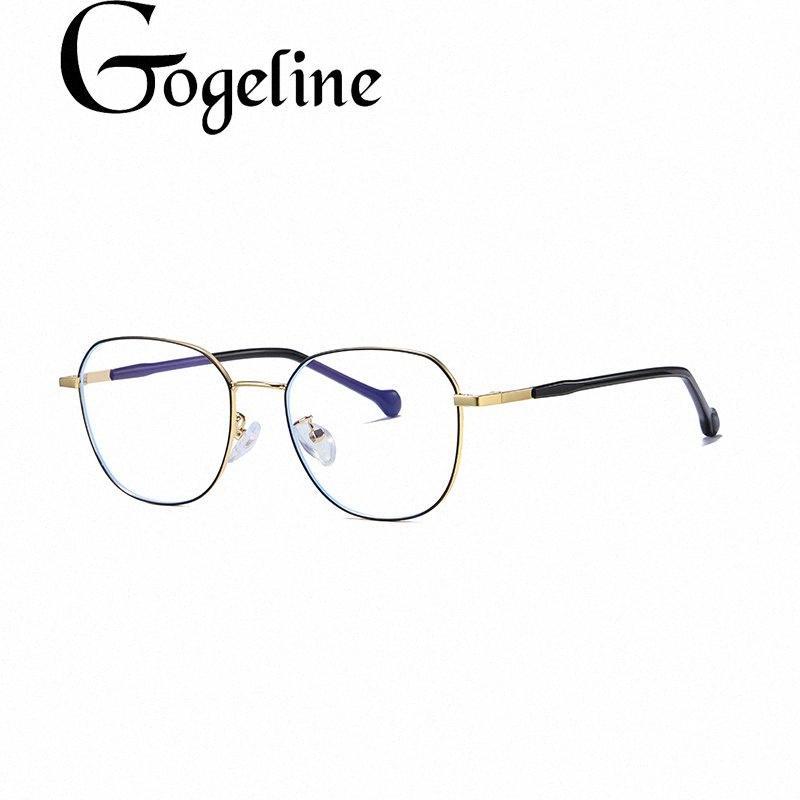 Métal Anti Bleu blocage lunettes de cadre Femmes Hommes Jeux pour ordinateur Lunettes Lunettes lunettes optiques cadre VUmw #