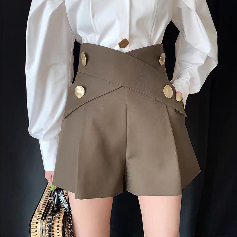 2021 Casual Tasarımcı Kadın Şort Pantolon Wummer Erken Sonbahar Eleginent Vintage Giysi Lüks