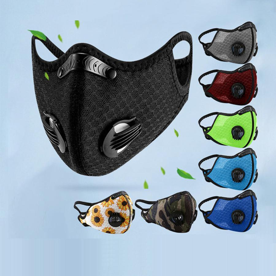 PM2.5 8 Karbon Eğitim Spor Koruma Yüz LJJO8253 Bisiklet Yasası BMWD Maske Running Karşıtı Toz Renkleri Maske Maske Aktif Bisiklet Maskesi Bisiklet