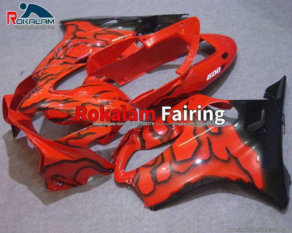 Kırmızı Siyah Periler Honda CBR600 F4I 2004 2005 2006 2007 CBR 600 CBRF4I 600F4I CBR600F4I Motosiklet ABS PERSASYON KITI (Enjeksiyon Kalıplama)