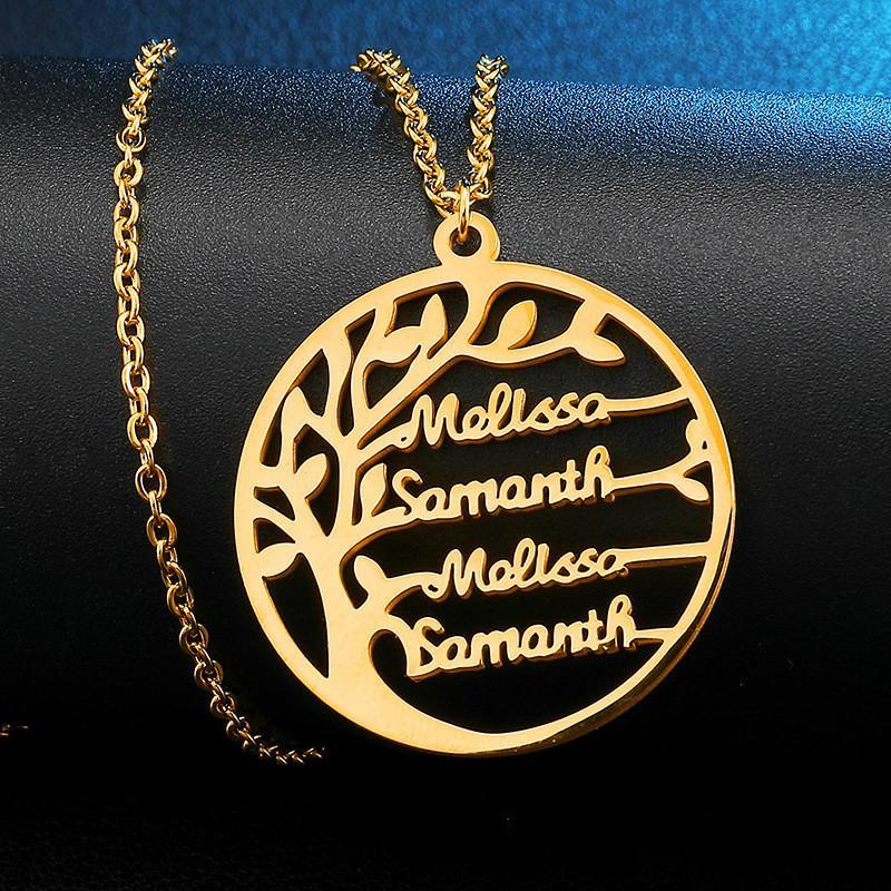 Мода Женщины Золото Серебро Цвет персонализированных пользовательских Имя ожерелье Customized Cursive Nameplate Ожерелье Женщины ручной работы подарок на день рождения