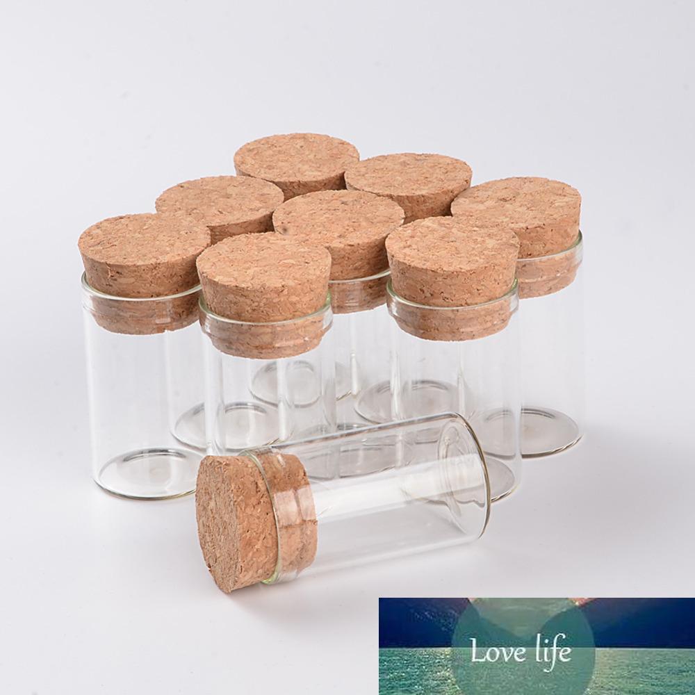 5 ml 10 ml 12 ml Mini botellas de cristal Viales tarros in vitro con tubo Corchos tapón de prueba de cristal transparente Mason tarros Botellas 100pcs