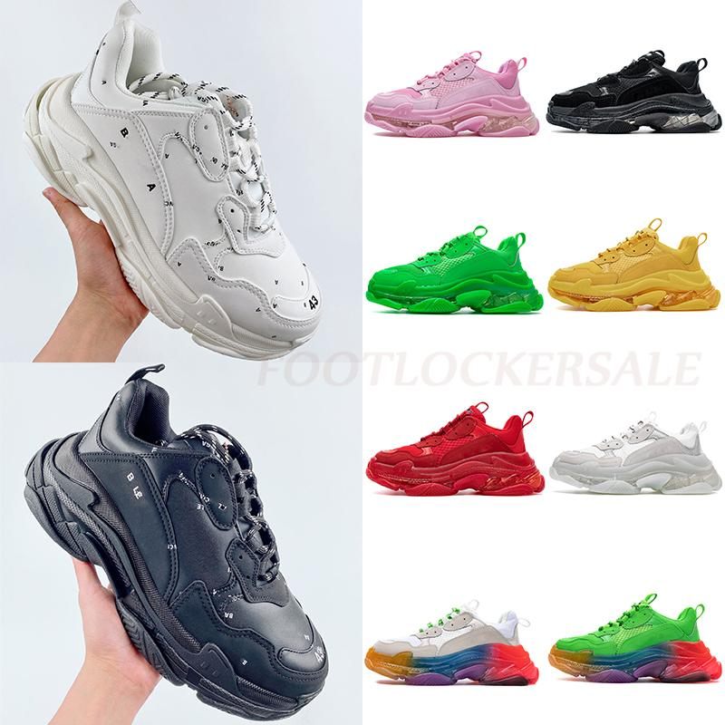 Luxury Designer shoes Triple S Shoes Triple-s designer Paris 17FW Triple s Sneakers for men women black red white green Casual Dad Shoes tennis increasing sneakers 36-45