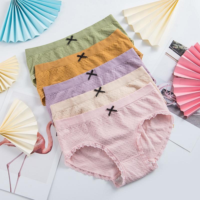 Flamingo 4 Generation 4.0 Nahtlose Frauenunterwäsche Spitze Hohe elastische dreidimensionale karierten Mädchen-Slips