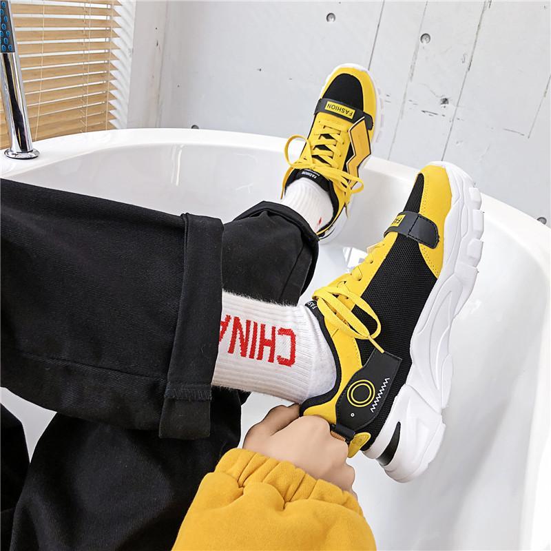 Tessuto di cotone traspirante versione coreana primavera e in autunno Uomo Primavera And Fall impermeabile versatile mens shoe uomini di modo pattino di pallacanestro
