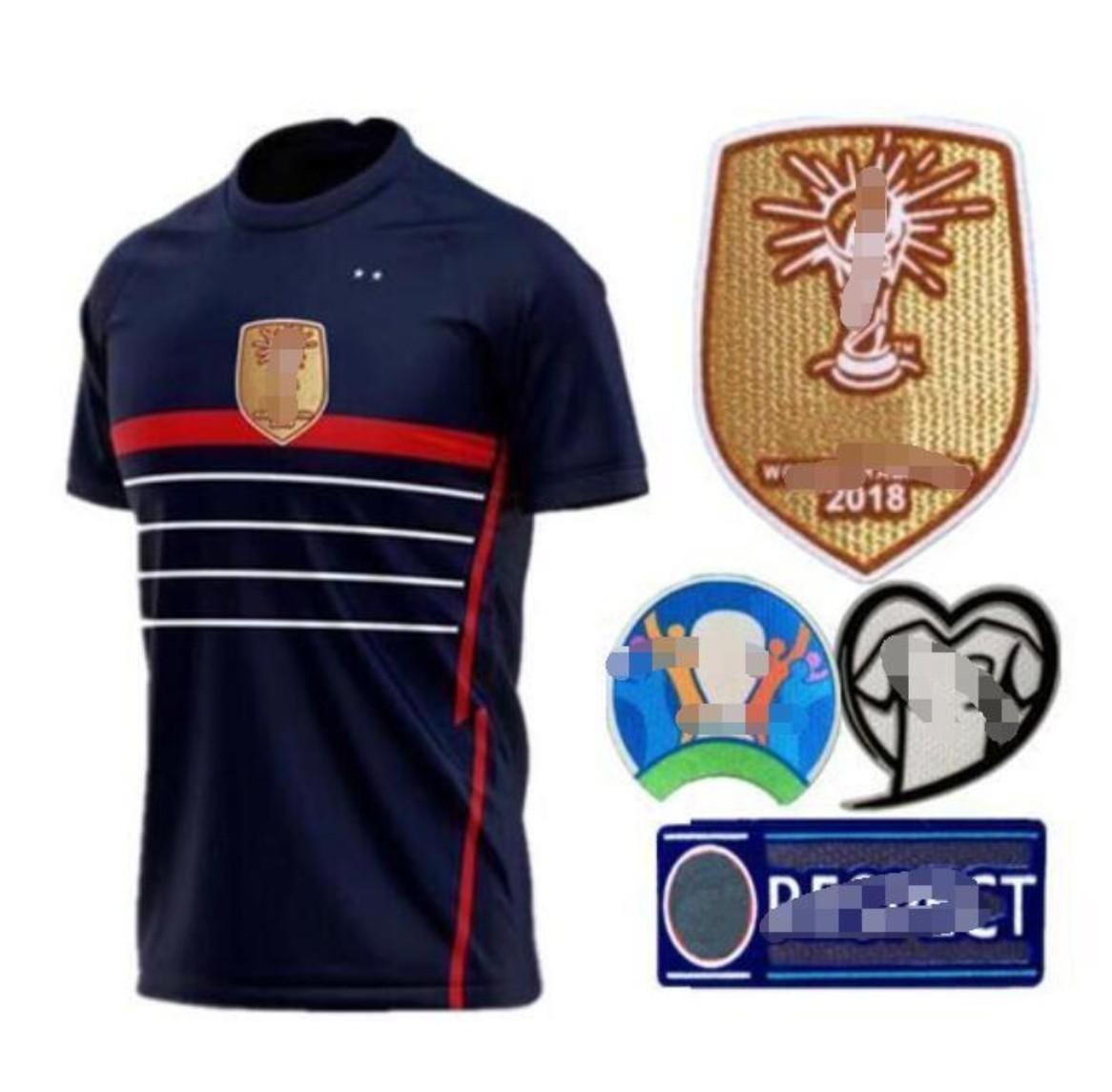 2021 New Francia '98 Fútbol Traning Jersey Jersey Sola chaqueta para hombre Traje para niños Zidane Henry Trezeguet