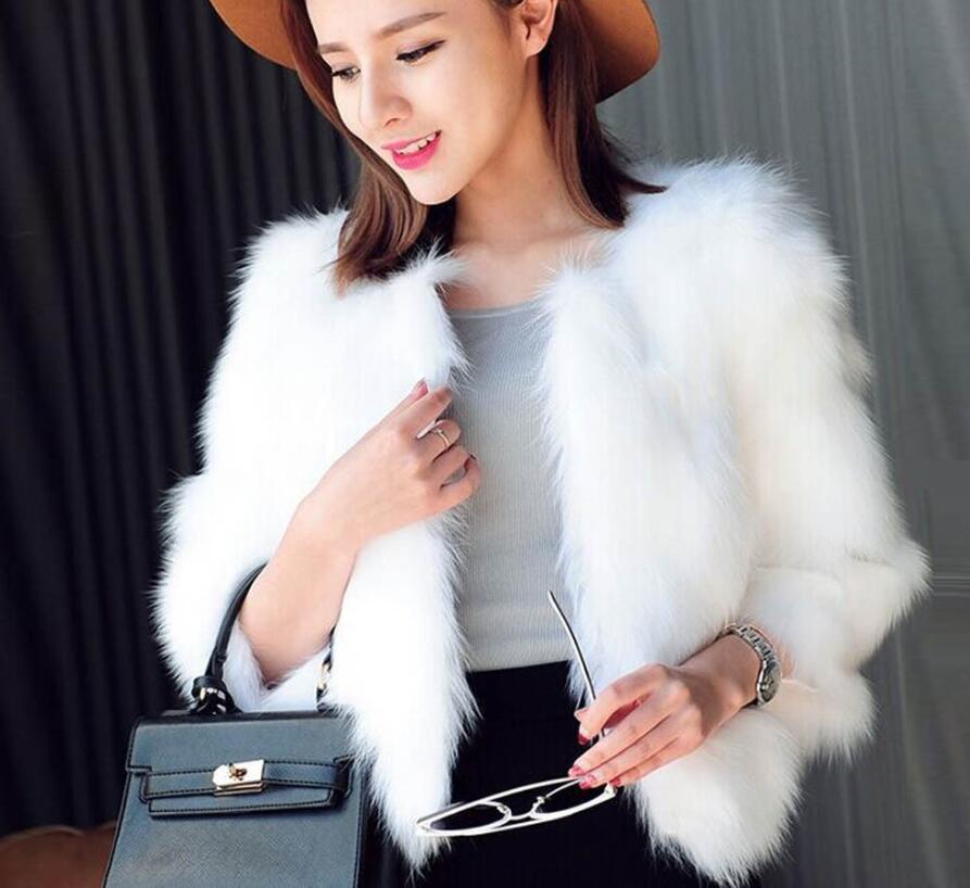 Europee e americane formato più l'autunno e la nuova giacca invernale delle donne più di formato della pelliccia delle donne breve imitato pelliccia di volpe per mantenere caldo in inverno