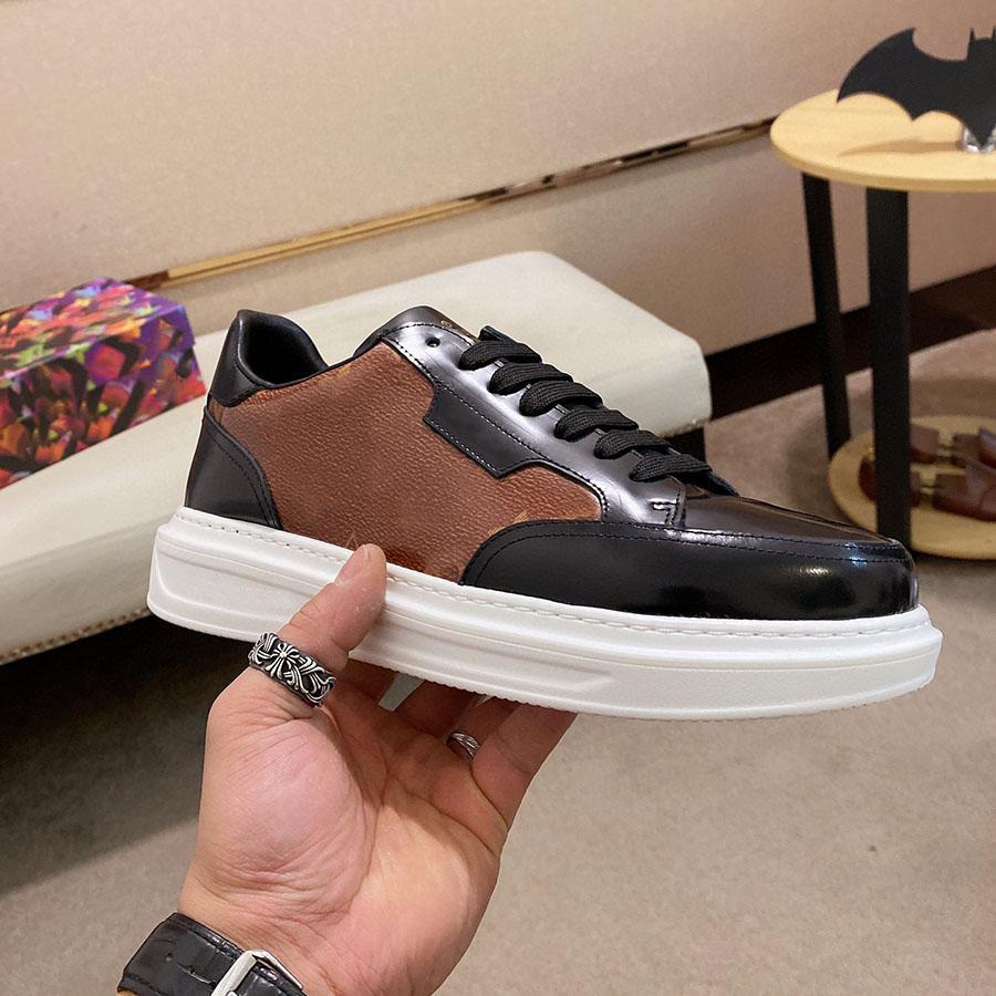 Мужские модные 20ss тренер на платформе обувь синий джинсовый коричневый белый черный модные кроссовки дизайнерские кроссовки натуральная кожа повседневная обувь