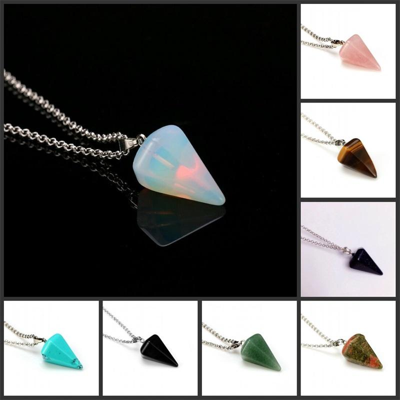 Natural Healing Stone Pendants For Necklace Hexagonal Column Cone New Native Crystals Jewelry Vintage High Quality 2 1zx K2B
