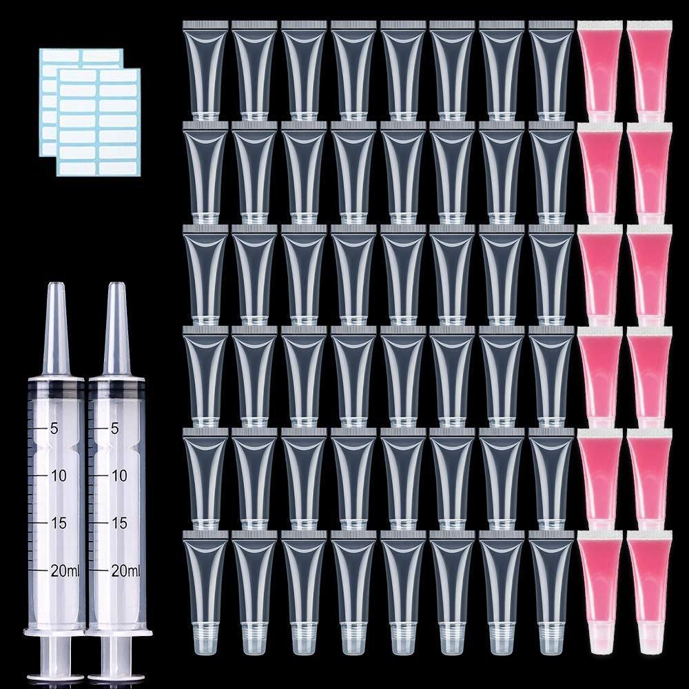 10ml all'ingrosso vuoto del rossetto Tubo Con La Siringa molle libera Lip Gloss contenitore ricaricabile Lipgloss tubi per fai da te cosmetico di trucco 201014