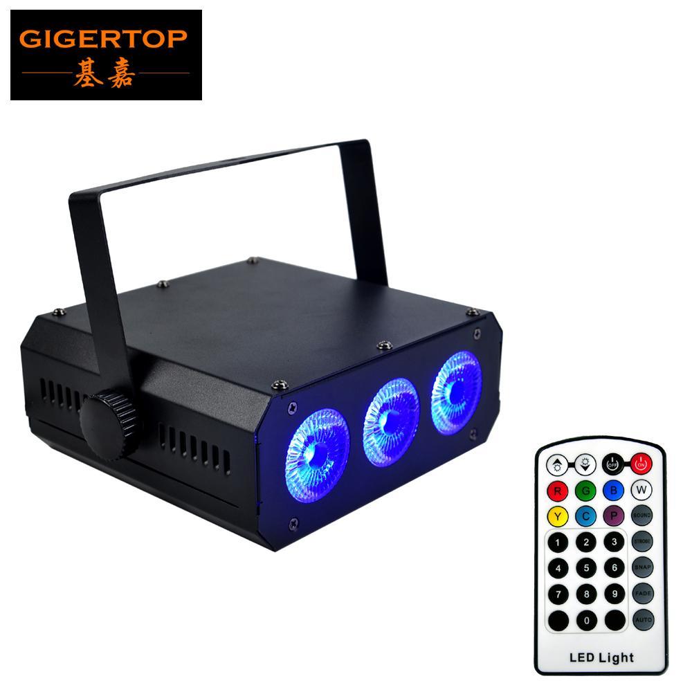 FREESHIPPING 3 ساعات x18W RGBWA UV 6IN1 شقة البطارية أدى ضوء الاسمية 6 اللون طويل لاسلكية تعمل IR تحكم عن بعد