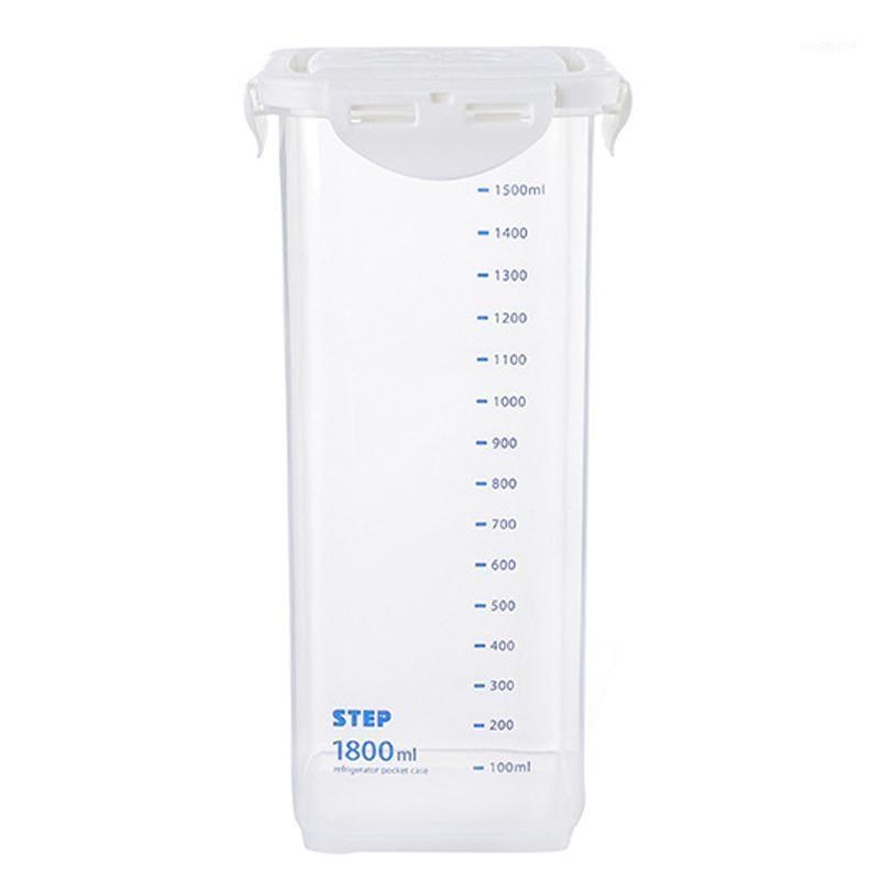 Siegel Lagerbehälter mit Skalenmarkierungen quadratisch versiegelt Haushalt Getreide Transparente gesunde Umweltfreundliche Box Küche1
