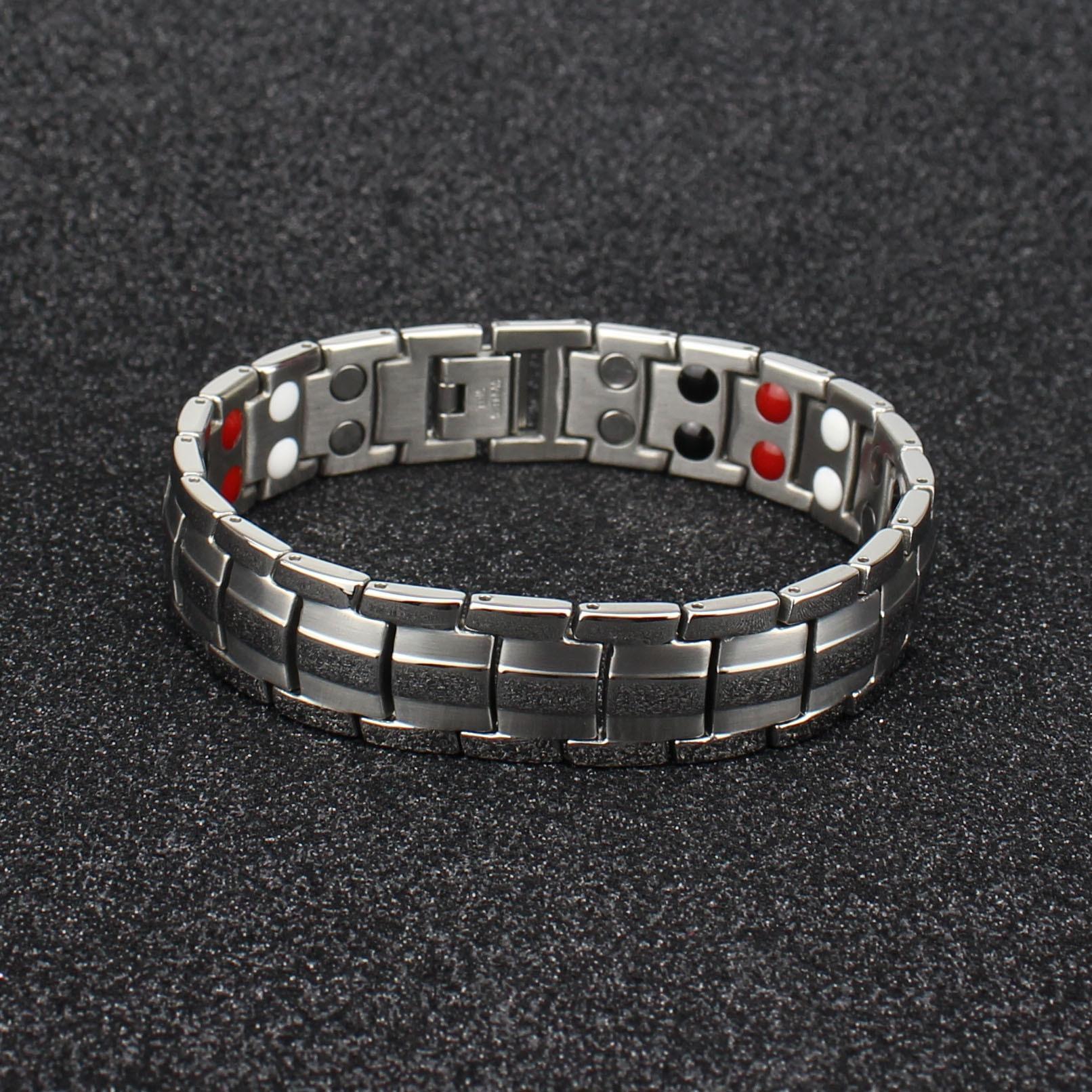 15mm in doppia fila di magneti colore xcy214 15 millimetri bracciale in acciaio a doppia fila di magneti braccialetto xcy21 degli uomini di colore braceletsteel maschile