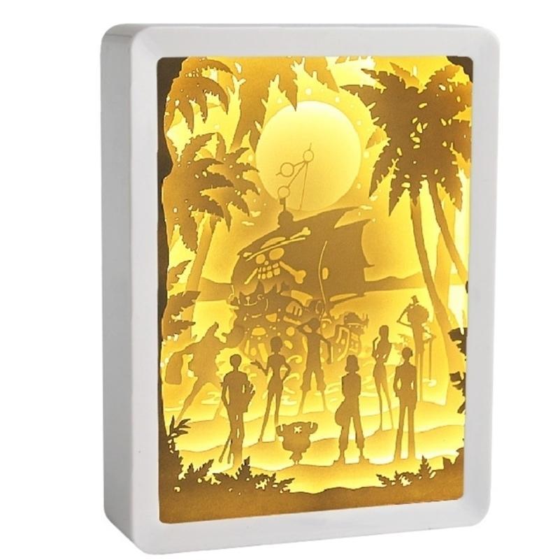 Rectangle Plastic Cut Light DIY Ensembles Full Full Ensembles Blank Paper Ombre Boîte avec Mélange LED Décor Cadre 201212