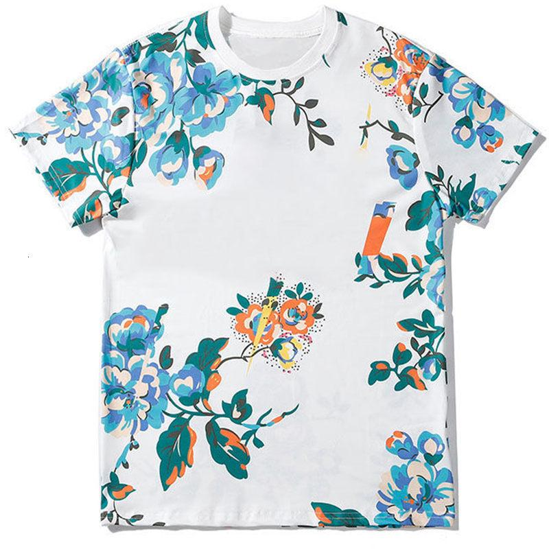 Fashion Mens Shirt 20ss Famous Street High Quality Flowers printed Pullover Polo Short Sleeve T shirts Men Women Couples Stylist Tee