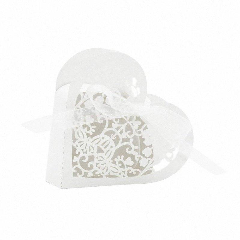 Lot de Big Deal 20 Bonbonnière coeur bonbons papier boîte-cadeau pour soirée de mariage - blanc 4NP3 #