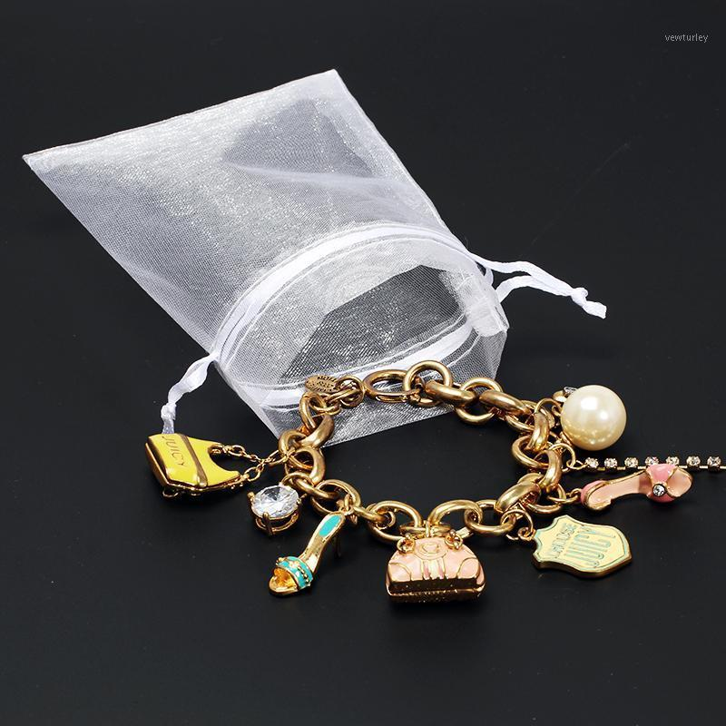 50 pcs 10x15 cm white Organza Bags Jewelry Packaging Bags Wedding Party Decoration Drawable Gift Pouches 5Z1