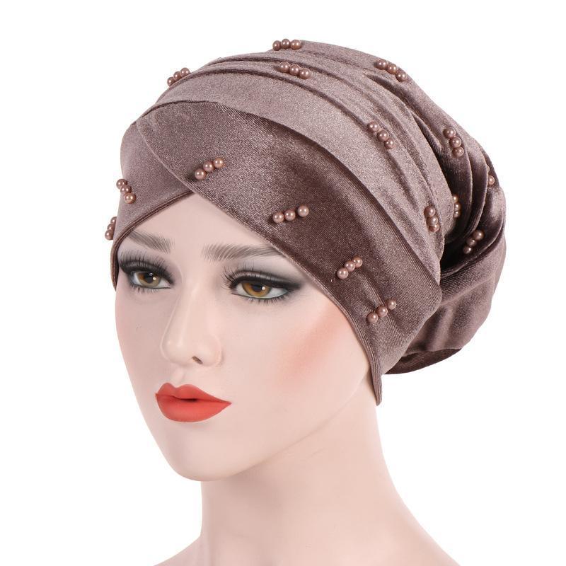 Mütze / Schädelkappen Frau Hijabs Turban Kopfkappe Hut Beanie Damen Haarschmuck Muslim Schal Verlust