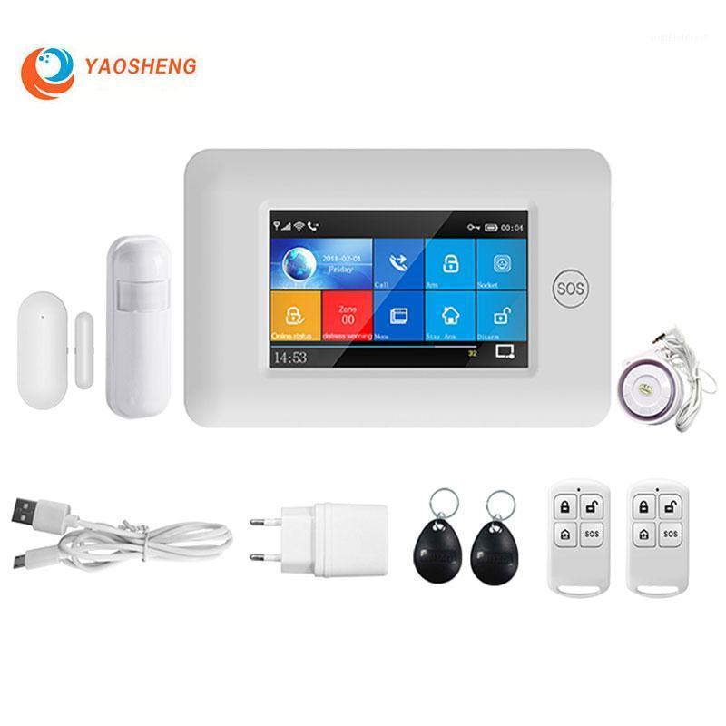 Systèmes d'alarme GSM WiFi WiFi Home System Système de sécurité Contrôle de l'application avec la porte du capteur de mouvement PIR RF 433MHz Smart Kits1