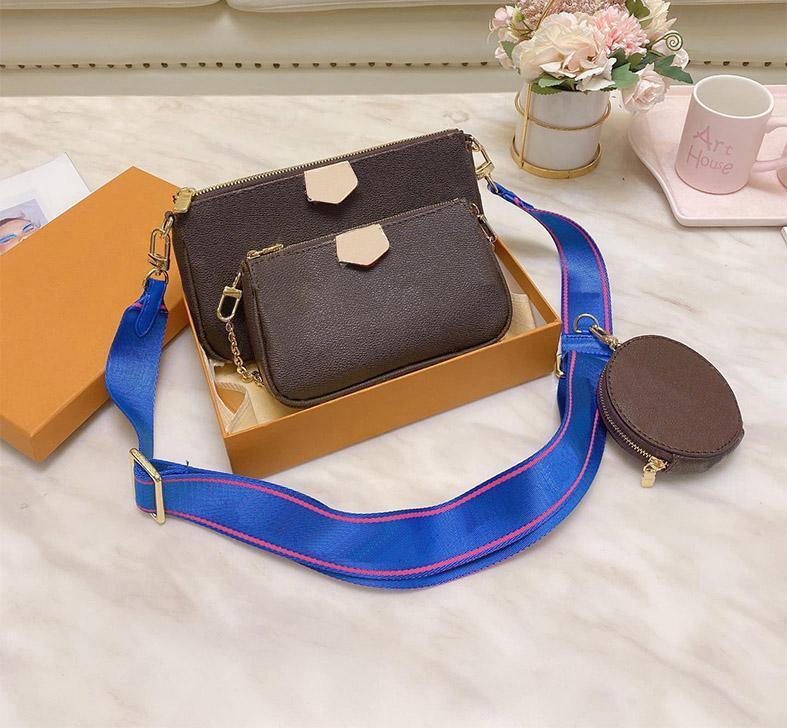 2020 مصمم كلاسيكي ثلاثة في واحد ماركة قطري الأزياء عالية الجودة عالية الجودة مطبوعة حقيبة الكتف حقيبة يد سيدة حقيبة تسوق الحرة