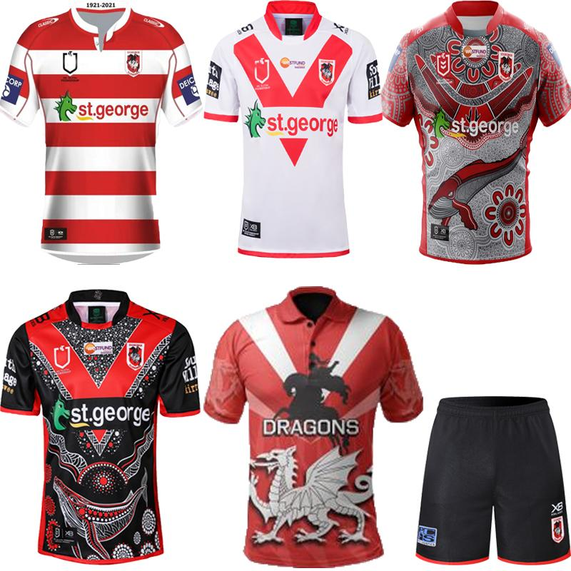 Yeni 2020 2021 Hatıra Yerli Rugby Formalar NRL Rugby League Jerseys 19 20 21 St George Illawarra Dragons NRL Nines Jersey S-5XL