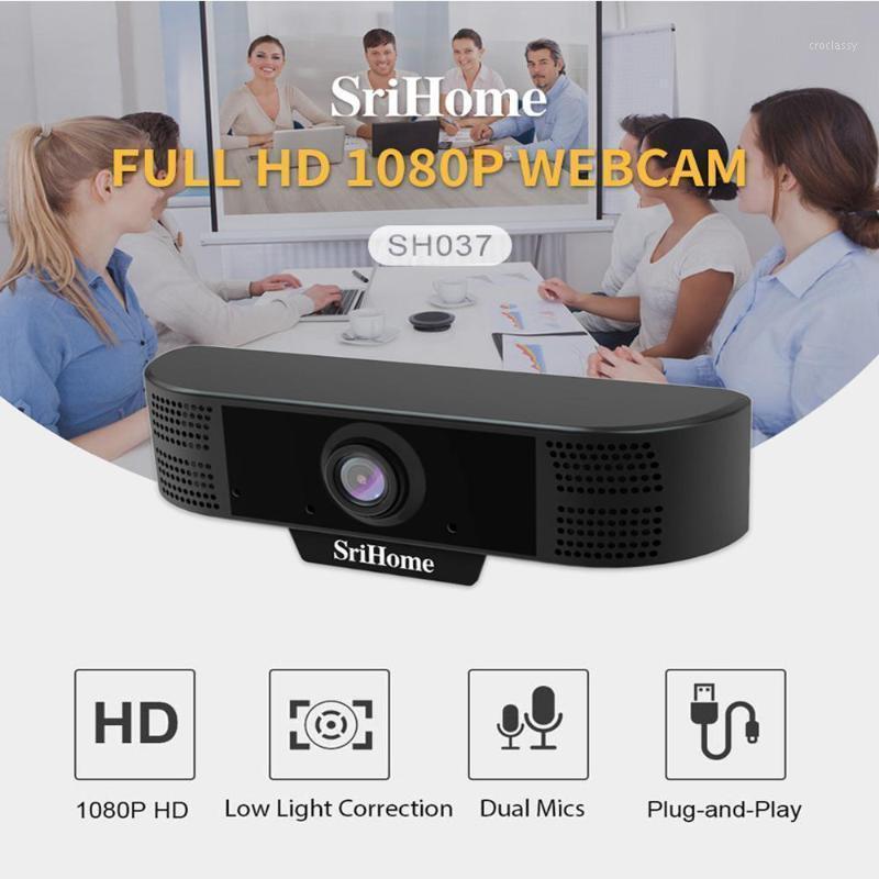 Webcams HobbyLane Computer Video Câmera de rede Conferência de rede 1080p HD com Redução de ruído Microfone Webcam1