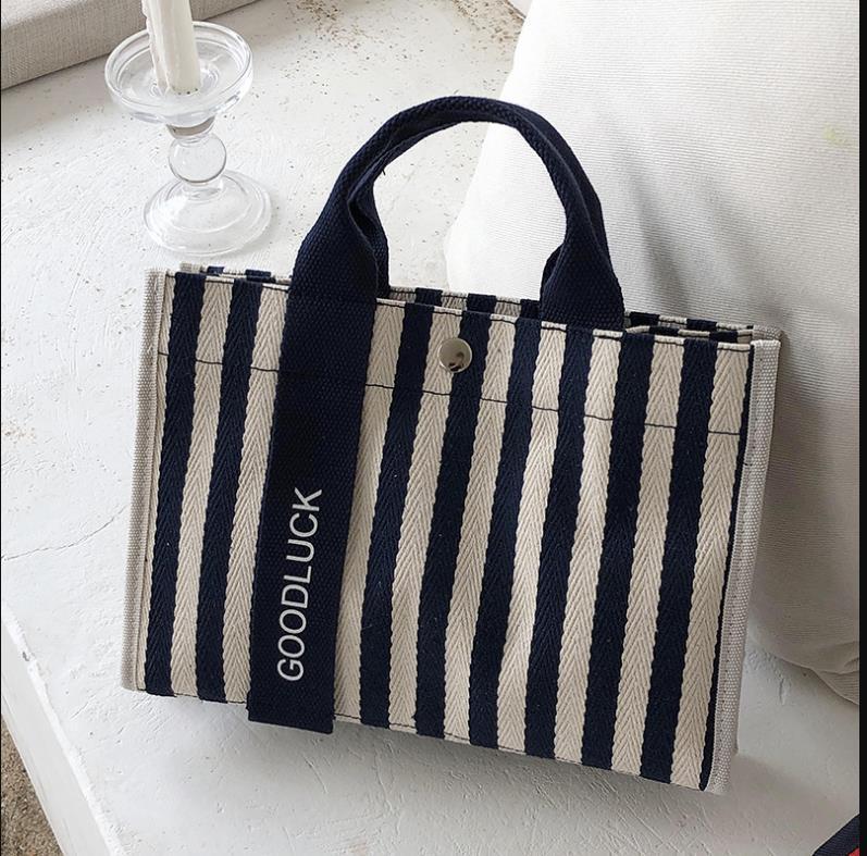 Pequeña diagonal 2021 bolsa bolsa de mano bolsa de lona hombro rayado bnjop