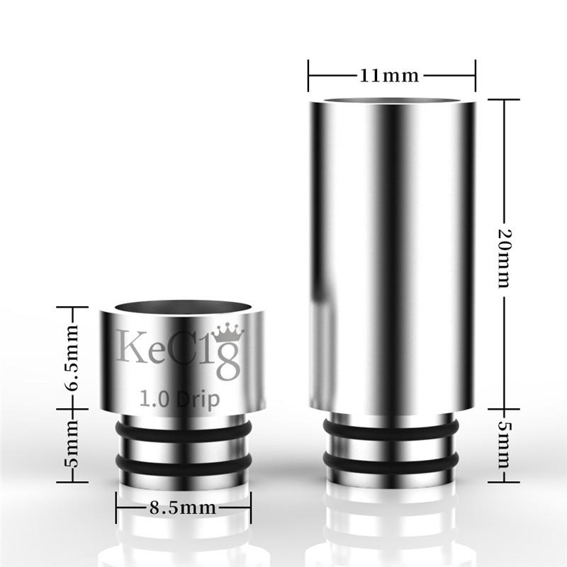 KECIG 1.0 наконечник капельницы 2 в 1 510 резьба из нержавеющей стали SS SS подсказки для подсказки Vape мундштук для 510 бак распылитель испарителя